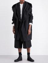 Isabel Benenato Oversized cotton-twill coat and cardigan