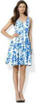 Lauren Ralph Lauren Sleeveless Floral-Print Fit-and-Flare Dress