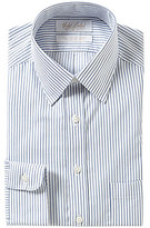 Roundtree & Yorke Gold Label Striped Slim-Fit Point-Collar Non-Iron Dress Shirt