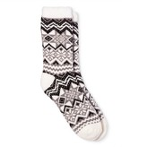 Merona Women's Cozy Feather Lined Crew Socks Shell Fairisle One Size