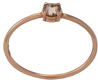 Eva Fehren 18kt Rose Gold Diamond Solitaire Ring