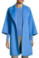 Michael Kors Wool Melton Car Coat, Blue
