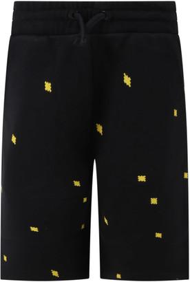 Marcelo Burlon County of Milan Black Short For Boy With Cross