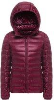 YOUJIA Women's Down Puffer Coat Lightweight Hooded Down Winter Jacket (, S)
