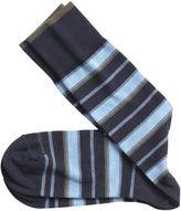 Johnston & Murphy Wide Stripe Socks
