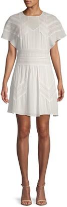 Iro . Jeans Vilda Short Kimono-Sleeve Flare Dress