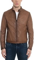 Forzieri Brown Leather Men's Biker Jacket
