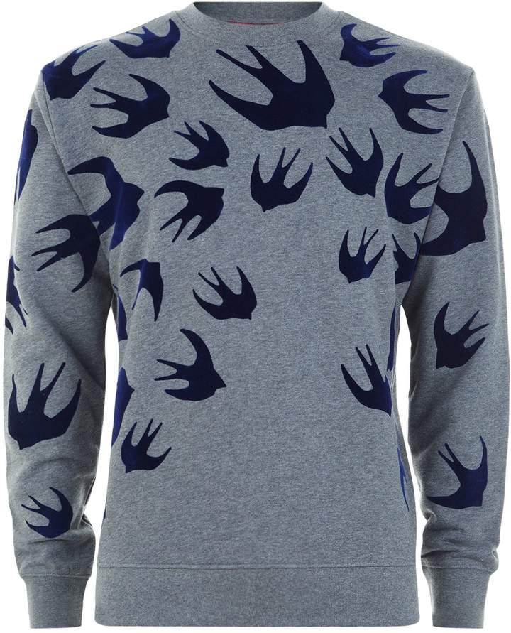 McQ All Over Swallow Sweatshirt