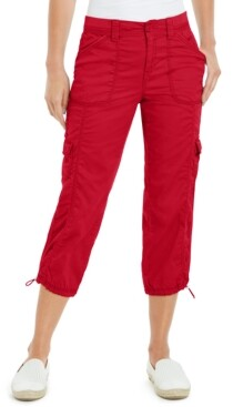 Style&Co. Style & Co Cargo Capri Pants, In Regular and Petite, Created for Macy's