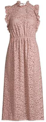 Kate Spade Flora Crochet Lace Ruffle Midi Dress