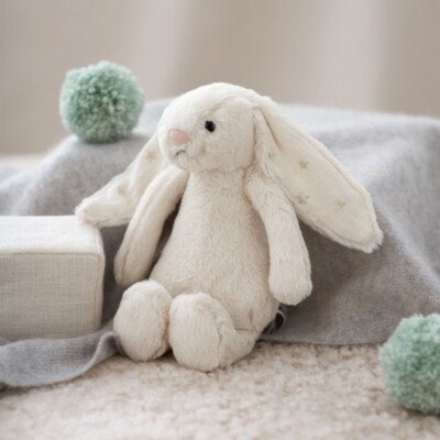 The White Company Jellycat Small Twinkle Bashful Bunny Toy, Natural, One Size