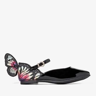 Sophia Webster Chiara Embroidery (Toddler/Little Kid) (Black/Multi) Women's Shoes
