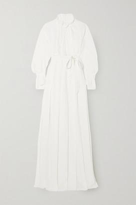 Roland Mouret Evora Belted Silk-georgette Wrap Gown - White
