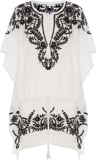 Yumi Star Embroidered Cotton Tunic Dress