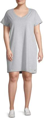 Calvin Klein Plus Short-Sleeve Cotton T-Shirt Dress