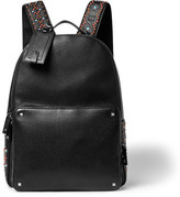 Valentino Embellished Grained-Leather Backpack