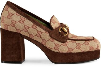 Gucci GG platform mid-heel loafers