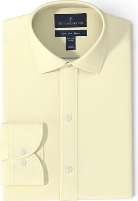 Buttoned Down Men's Slim Fit Spread-Collar Non-Iron Dress Shirt (No Pocket)