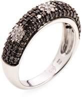 Rina Limor Fine Jewelry Women's Sterling Silver Black & White Diamond Dot Ring