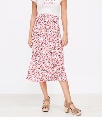 LOFT Cherry Midi Skirt