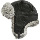 Crown Cap Faux Fur-Trimmed Ski Hat