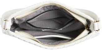 Mali & Lili Woven Vegan Leather Baguette Shoulder Bag