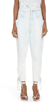 Isabel Marant Tie Cuff Tapered Jeans