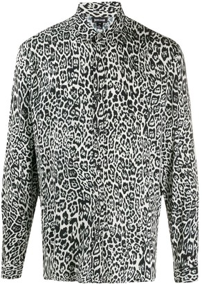 Just Cavalli Long Sleeved Leopard Print Shirt