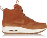 Nike 1 suede and leather high-top sneakers
