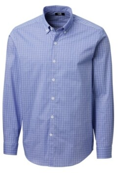 Cutter & Buck Men's Soar Windowpane Shirt