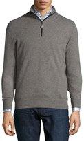 Neiman Marcus Nano-Cashmere 1/4-Zip Pullover, Taupe