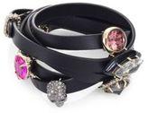 Alexis Bittar Custom Gemstone & Leather Wrap Bracelet
