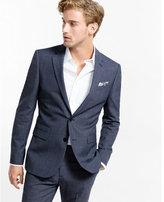 Express slim photographer mircro twill navy suit jacket