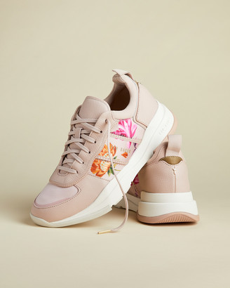 Ted Baker KEATONR Rhubarb chunky leather mix trainers
