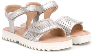Geox Kids Metallic Touch Strap Sandals