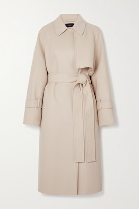 Joseph Cottrell Belted Wool And Cashmere-blend Felt Coat - Cream