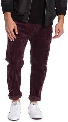 Nudie Jeans Regular Fit Wide Leg Plum Corduroy Pants