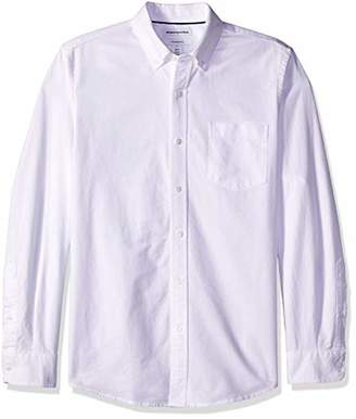 Amazon Essentials Slim-fit Long-sleeve Solid Pocket Oxford Shirt Button,(EU M)