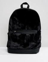 Asos Backpack In Black Velvet