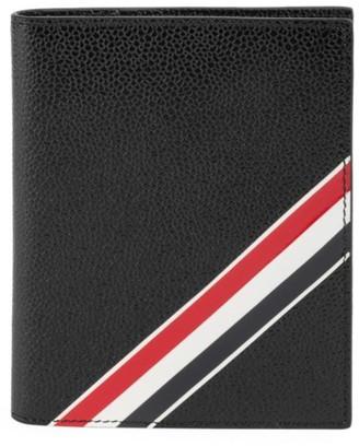 Thom Browne Pebble-Grain Leather Bi-Fold Wallet
