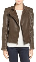Vince Camuto Women's Asymmetrical Leather Moto Jacket