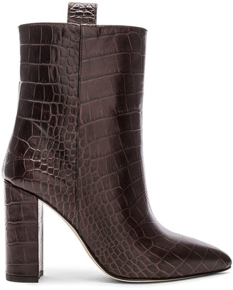 Paris Texas Ankle Boot in Dark Brown Croc | FWRD