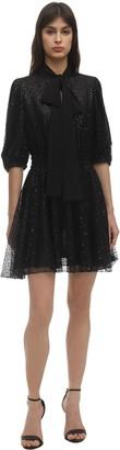 Giamba Sequined Mini Dress