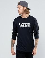 Vans Classic Logo LS T-Shirt In Black V002ORKGW