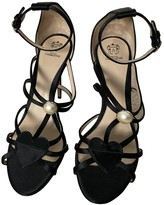 Paula Cademartori Black Leather Sandals