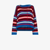 Thumbnail for your product : Charles Jeffrey Loverboy Blue Slash Striped Sweater