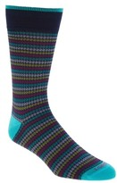 Lorenzo Uomo Men's Houndstooth Stripe Crew Socks
