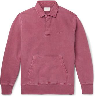 Aimé Leon Dore Pigment-Dyed Embroidered Fleece-Back Cotton-Jersey Sweatshirt - Men - Pink