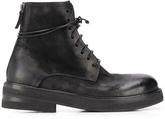 Marsèll Suede Lace-Up Boots