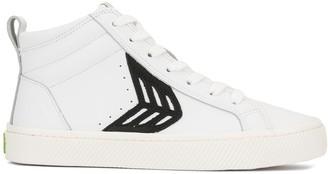 Cariuma CATIBA High Off White Leather Black Logo Sneaker